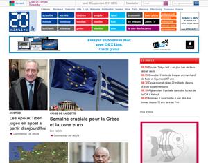 capture d'écran du site 20minutes.fr