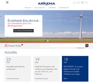 capture d'écran du site arkema.com