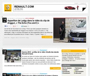 capture d'écran du site renault.com