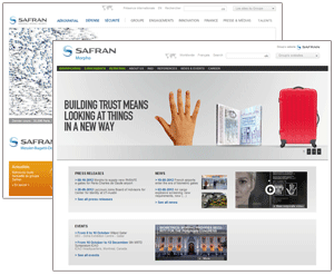 montage des sites Safran-group et Morpho