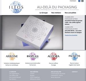 capture d'écran du site ileos.com