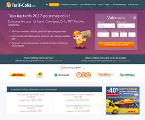 capture d'écran du site tarif-colis.com