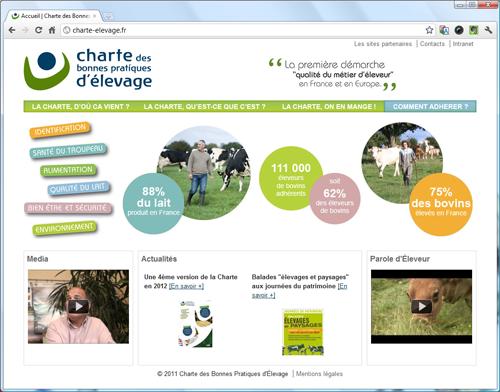 Capture d'écran du site charte-elevage.fr
