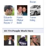 Nouvelle box « People Work Heres » sur les fan pages Facebook