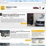 Projet : un blog tout neuf pour le renault.com