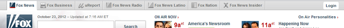 barre de navigation multi-sites chez Fox News
