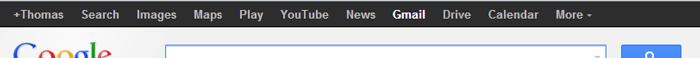 barre de navigation multi-sites sur les services Google