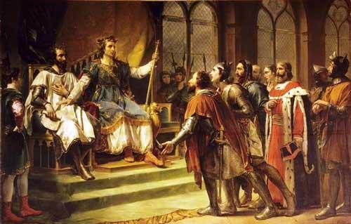 Rouget - Saint Louis médiateur entre le roi d'Angleterre et ses barons (23 janvier 1264) / Source : WikiMedia Commons